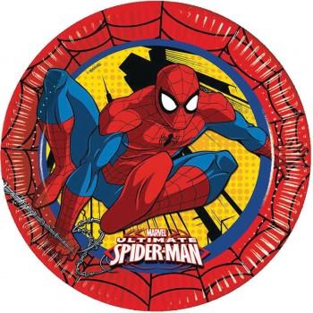 8 Assiettes Spiderman Power