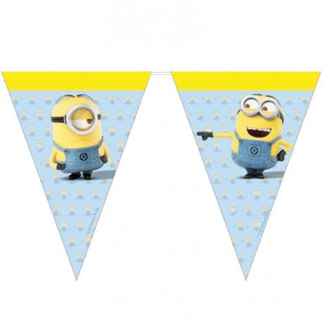 Guirlande fanions thème Les Minions pour la deco anniversaire de votre enfant.