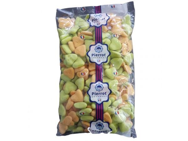 bonbons Coeurs guimauve orange/vert 1.5kg