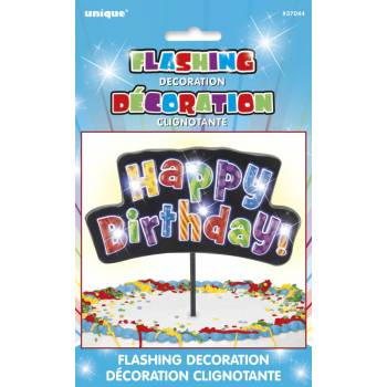 Pic lumineux Happy Birthday multicolore