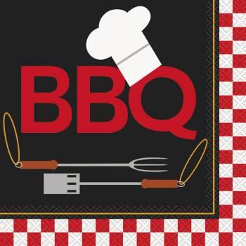 16 Serviettes BBQ grill
