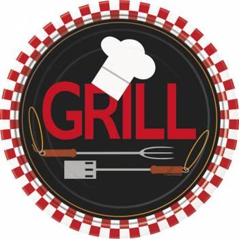 8 Assiettes dessert BBQ grill