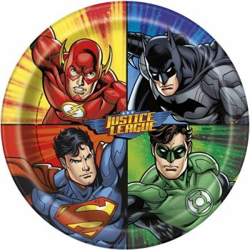 8 Assiettes Justice league