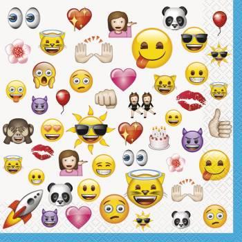 16 Serviettes Emoji