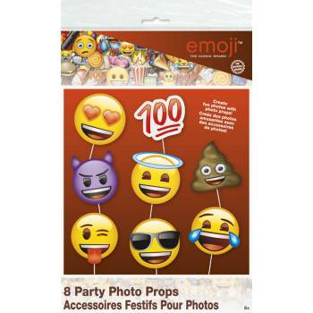 8 Accessoires photobooth Emoji