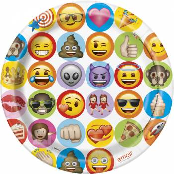 8 Assiettes cool Emoji célébration