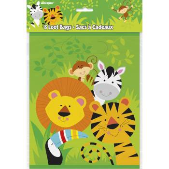8 sachets de fête animal jungle