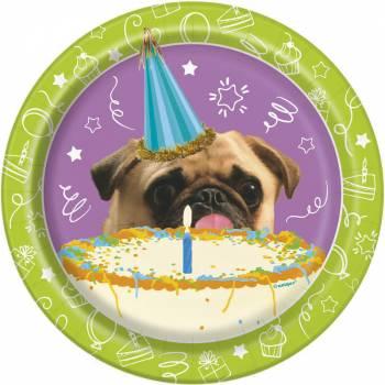 8 Assiettes dessert Puppy Birthday