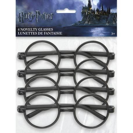 4 Paires de lunettes en plastique thème Harry potter