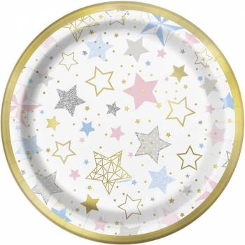8 Assiettes dessert Twinkle little star