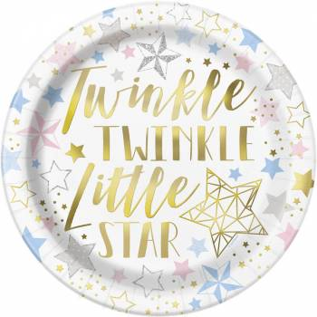 8 Assiettes Twinkle little star