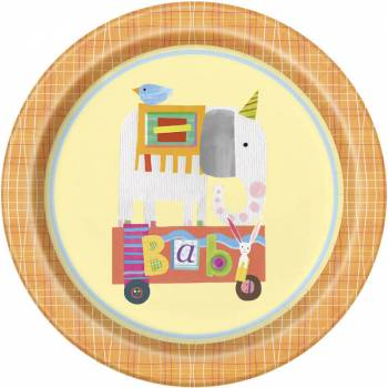 8 Assiettes Animal circus