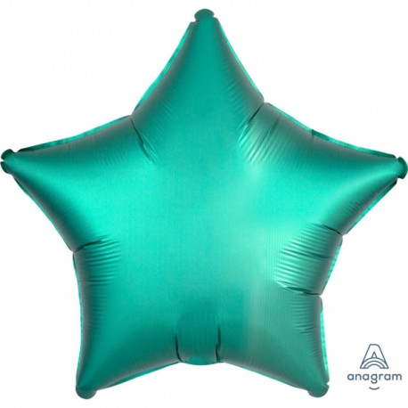 Superbe ballon hélium avec effet satiné haut de gamme à gonfler avec ou sans hélium à l'aide d'une paille Forme étoile couleur...