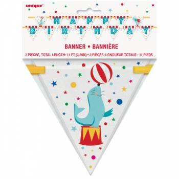 Banderole Happy Birthday carnaval circus
