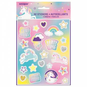 92 Stickers Licorne Party
