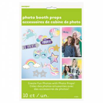 10 accessoires photobooth Licorne Party