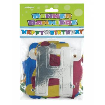 Banderole Happy birthday multicolore
