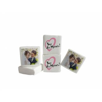 Guimize personnalisé photo décor Vive les mariés rose