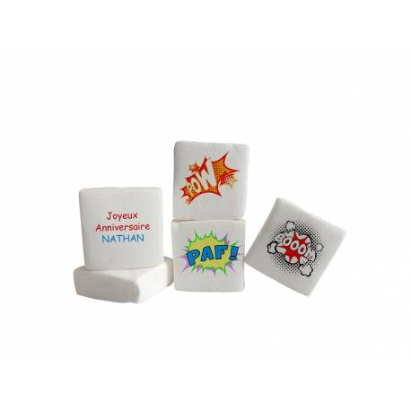 Les bonbons Guimize sont des guimauves personnalisées pour vos candy bar de fêtes anniversaire, mariage ou baptême.Elles sont livrés...