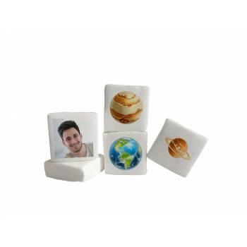 48 Guimize carrés personnalisés photo décor Planète