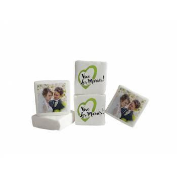 Guimize personnalisé photo décor Vive les mariés vert