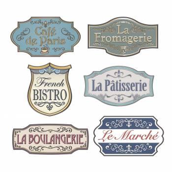 6 Pancartes enseignes française
