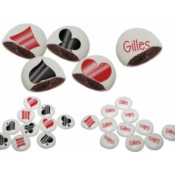Palets choc' personnalisés décor Poker