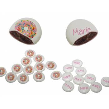 Palets choc' personnalisés décor donuts