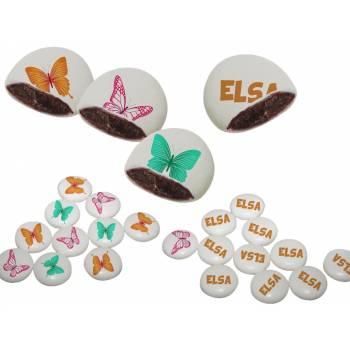 Palets choc' personnalisés décor Papillons