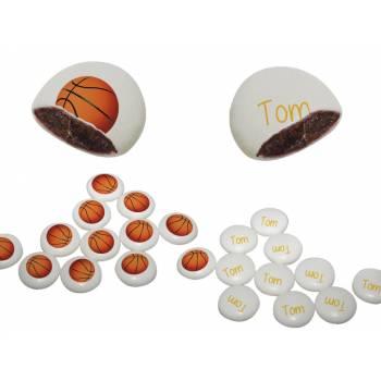 Palets choc' personnalisés décor Basket