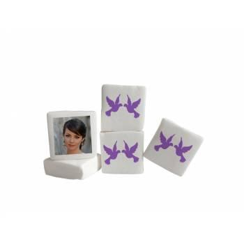 Guimize personnalisé photo décor colombes violettes