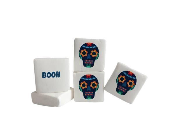 Bonbon Halloween- Marshmallow personnalisé Texte décor Inca