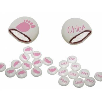 Chamachoc personnalisé decor peton rose texte