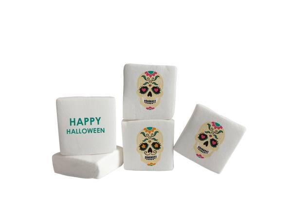 Bonbon Halloween- Marshmallow personnalisé Texte décor Santa Muerte