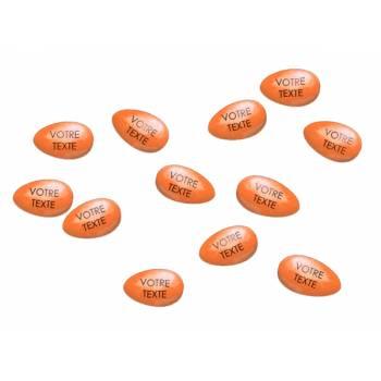 36 Dragées chocolat personnalisées orange