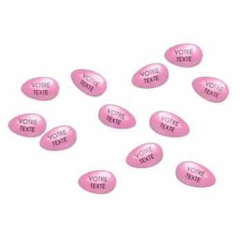36 Dragées chocolat personnalisées rose layette