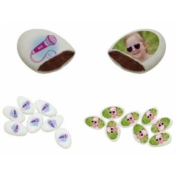 110 Dragées chocolat personnalisés décor violetta photo