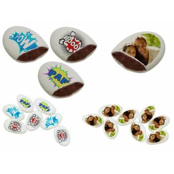 110 Dragées chocolat personnalisés décor heros photo