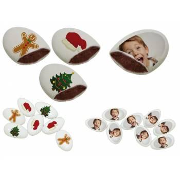 110 Dragées chocolat à personnaliser décor noel photo