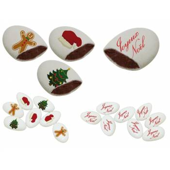 110 Dragées chocolat personnalisés decor Noël texte