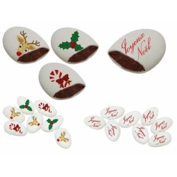 110 Dragées chocolat personnalisés joyeux Noël texte