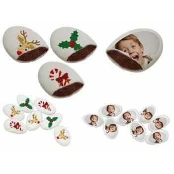 110 Dragées chocolat à personnaliser joyeux noel photo