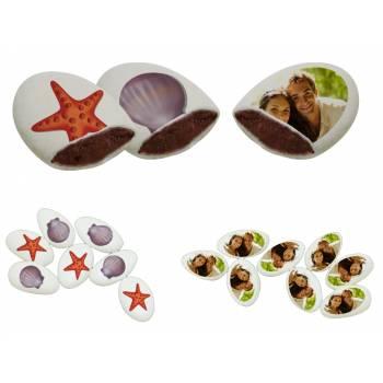 110 Dragées chocolat à personnaliser Coquillages photo