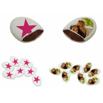 110 Dragées chocolat à personnaliser Star photo