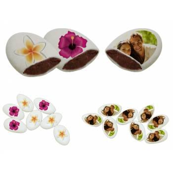 110 Dragées chocolat à personnaliser Fleurs des îles photo