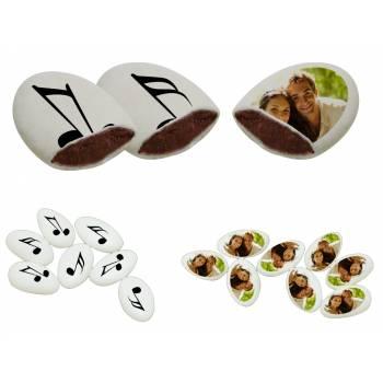 110 Dragées chocolat à personnaliser décor Note de musique photo