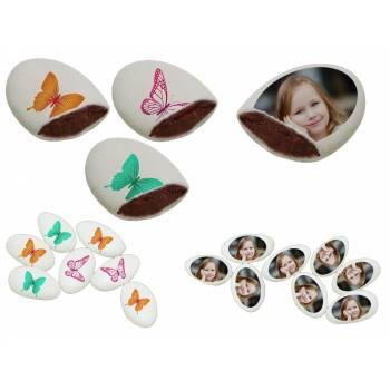 110 Dragées chocolat à personnaliser décor Papillons photo