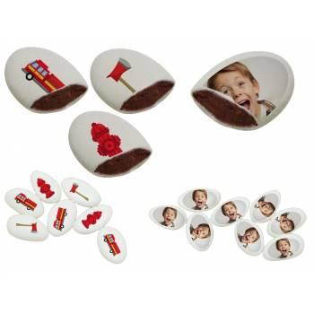 110 Dragées chocolat à personnaliser décor Pompiers photo