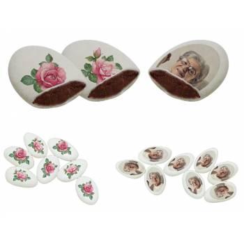 110 Dragées chocolat à personnaliser décor Roses Vintages photo