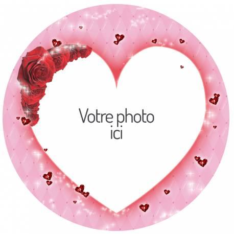 Personnalisé amour Saint Valentin vous image Square Oreiller Housse cadeau personnalisé